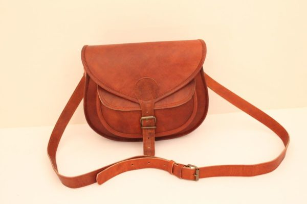 """Goat Leather 5"""", 6″ & 9″ Cross Body OWL Shape Bag with Front Pocket"""