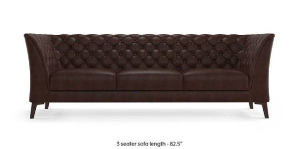 Brown Color Chester Field Three Seater Sofa