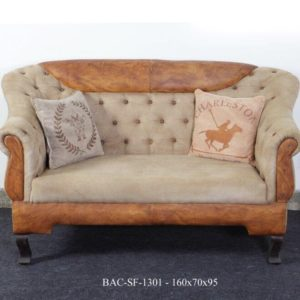 Handmade Designer Chester Field Two Seater Sofa In Double Color