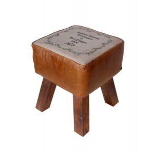 Hand Crafted Leather Stool
