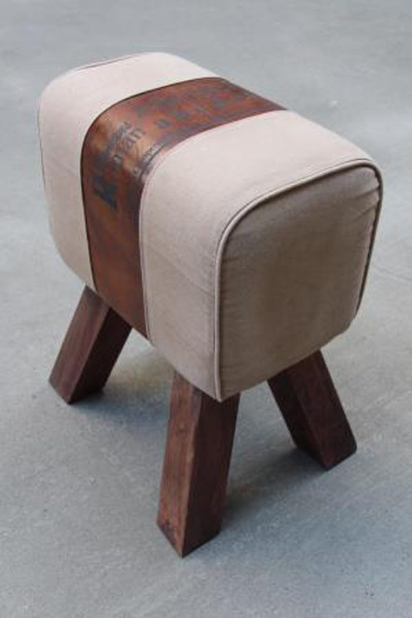 Leather Stool For Leaving Room
