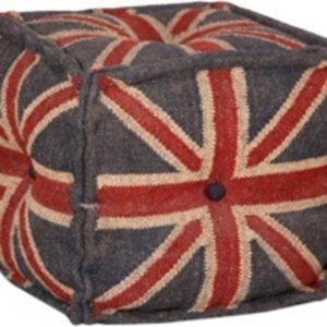 Handmade Flag Designed Stylish pouff