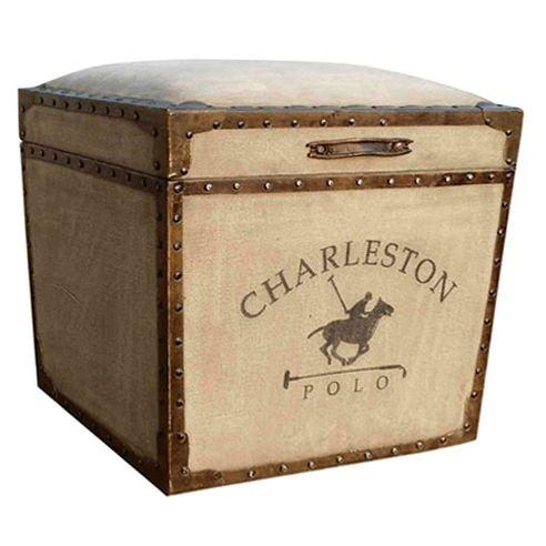 Handmade Wooden Box With Leather & Canvas