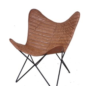 Handmade Designer Butterfly Chair With Lining Pattern