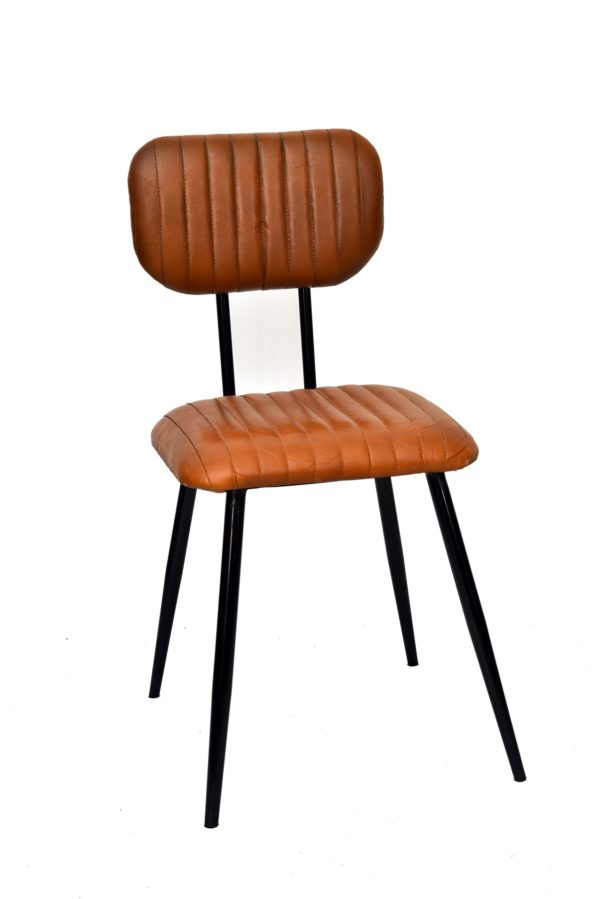 Handmade Designer Leather Chair With Stylish Legs