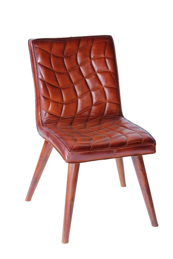 crocodile Style handmade leather chair