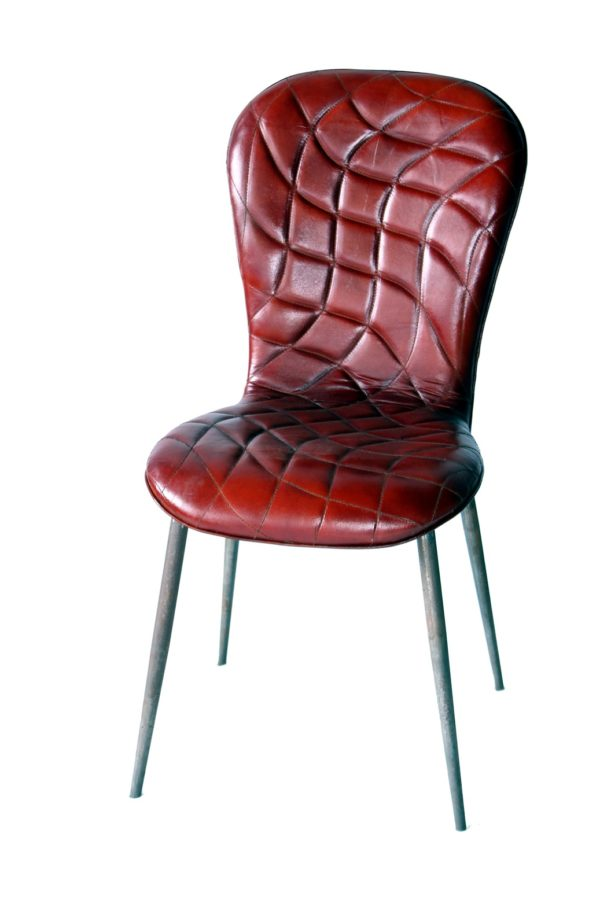 Designer Chair With Stylish Pattern on Leather