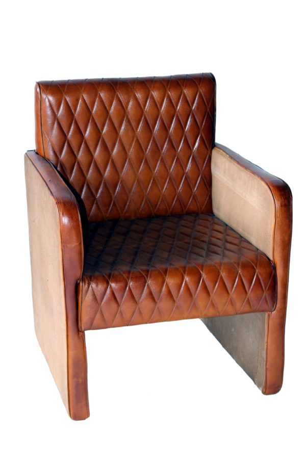 Designer Handmade Sofa Look Leather Chair