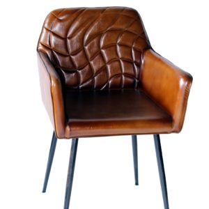 Handmade Designer Wings Chair With Block Pattern