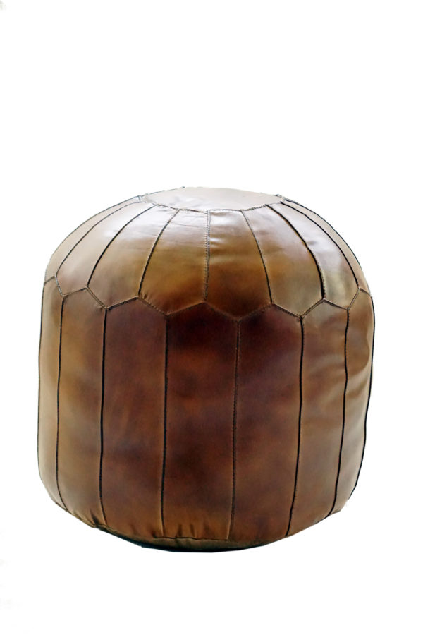 Handmade Leather Pouf With Stylish Design