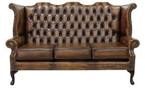 Handmade Royal Brown Chester Field Three Seater Sofa