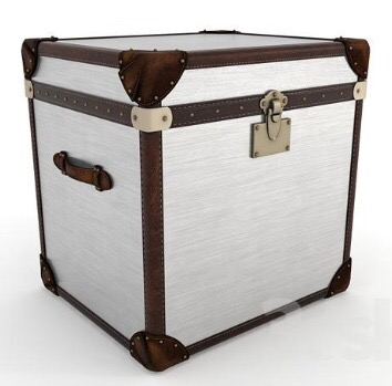 Handmade Leather + Canvas Box With Lock System