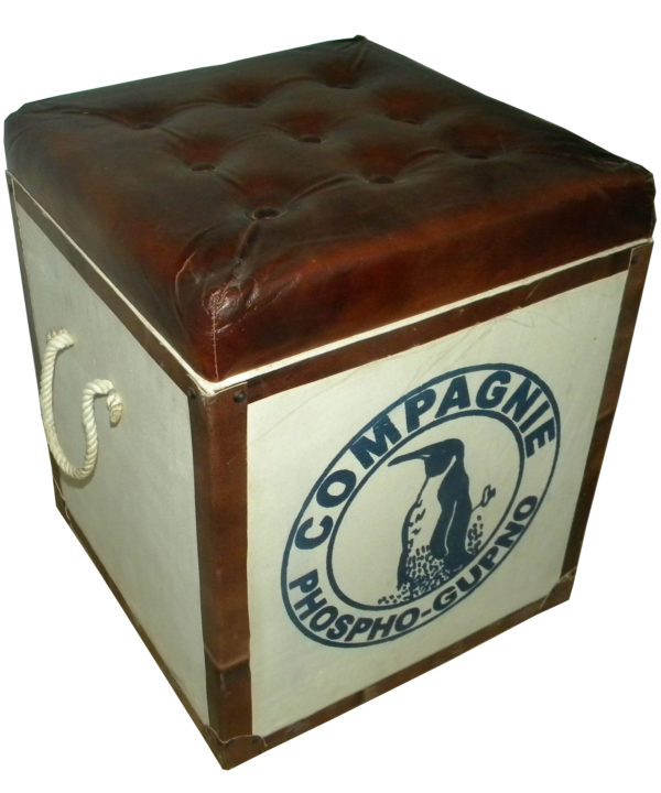 Vintage Look Designer Leather Box