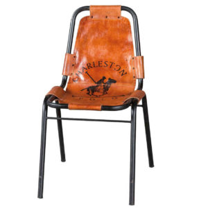 Hand-Crafted Leather Tent Chair