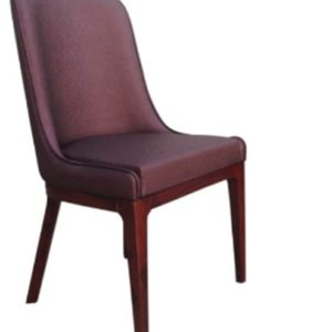 Handmade Dark Brown Leather Chair
