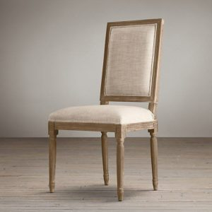 Handmade White Leather Dinning Chair